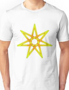 Seven Pointed Star shaded orange and yellow Unisex T-Shirt
