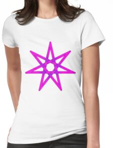 Seven Pointed Star shaded pink and purple Womens Fitted T-Shirt