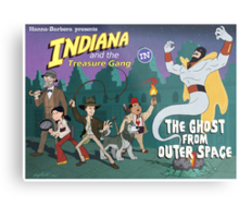 Indiana and the Treasure Gang in The Ghost From Outer Space Metal Print