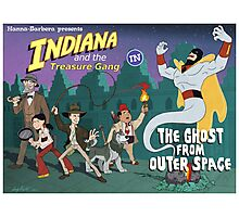 Indiana and the Treasure Gang in The Ghost From Outer Space Photographic Print