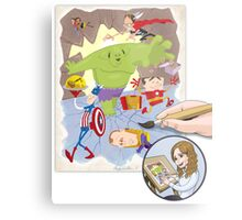 The Office Avengers Metal Print