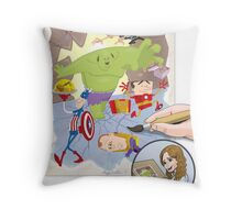 The Office Avengers Throw Pillow