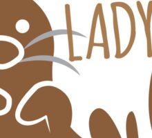 Crazy otter lady Sticker