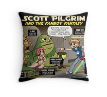 Scott Pilgrim and the Star Wars fantasy Throw Pillow