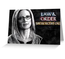 Alex Cabot Law and Order SVU Greeting Card