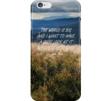 The World is big 2 iPhone Case/Skin