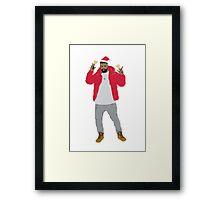 Hip Hop Christmas Framed Print