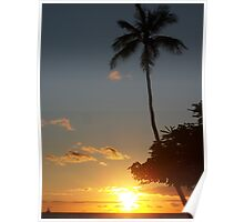 Aloha, Hawaiian Sunset,  Poster