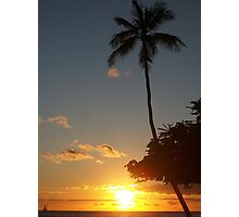 Aloha, Hawaiian Sunset,  Photographic Print