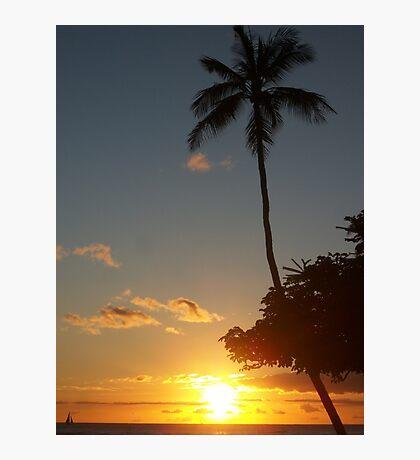 Aloha, Hawaiian Sunset,  Photographic Print