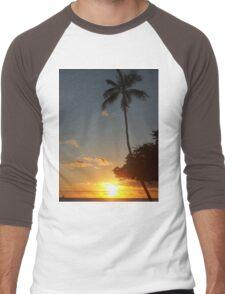 Aloha, Hawaiian Sunset,  Men's Baseball ¾ T-Shirt