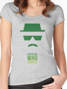 BREAKING BAD/ I AM THE ONE WHO KNOCKS Women's Fitted Scoop T-Shirt