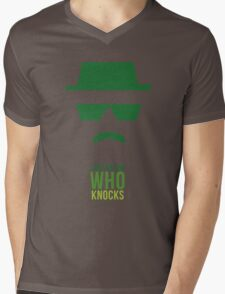 BREAKING BAD/ I AM THE ONE WHO KNOCKS Mens V-Neck T-Shirt