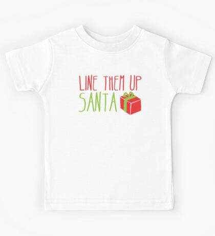 Line them up SANTA Kids Tee