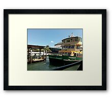 Sydney Ferry at Circular Quay Framed Print
