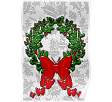 Butterfly wreath Poster