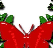 Butterfly wreath Sticker