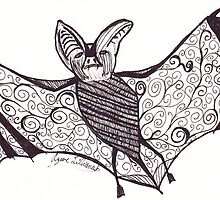 Black and White Bat (Halloween 2012) by AzureLilliana