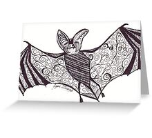 Black and White Bat (Halloween 2012) Greeting Card