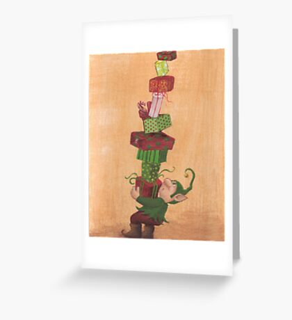 Christmas Elf Santa's Helper Greeting Card
