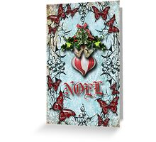Mistletoe and holly Greeting Card