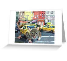 NYC Rat Taxi Greeting Card