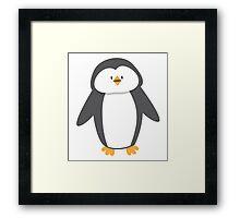 Cute little suited penguin Framed Print