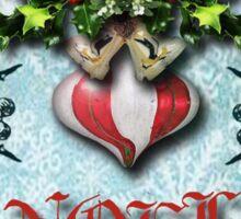 mistletoe n holly Sticker