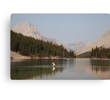 Elbow lake fishing II Canvas Print