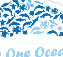 We're One Ocean Sticker
