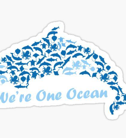 We're One Ocean Sticker