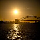Sydney Harbour Bridge with Opera House Sunset by Andrew Wilson