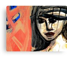 Blue Nude Pink Face Canvas Print