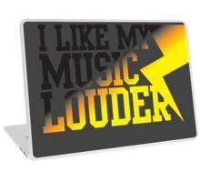 I like my music LOUDER! Laptop Skin