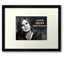 Olivia Benson Law and Order SVU Framed Print