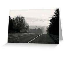 Foggy Migration Greeting Card