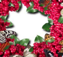 berries and butterflies Sticker
