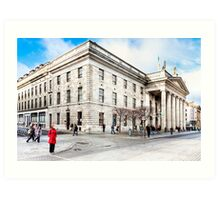 Lady In Red - Dublin Post Office Art Print