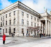 Lady In Red - Dublin Post Office by Mark Tisdale