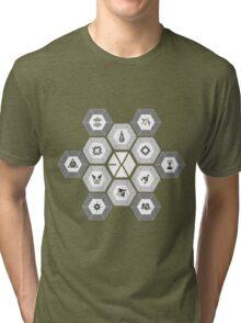 EXO - Hexagons (For Dark Colours) Tri-blend T-Shirt