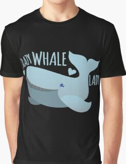 Crazy Whale Lady Graphic T-Shirt