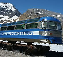 Columbia Icefield Snowmobile by roger smith