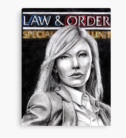 Amanda Rollins Law and Order SVU Canvas Print