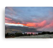Sunset Fog on Cadillac Canvas Print