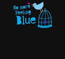 No more feeling blue with cute little bluebird singing Womens Fitted T-Shirt