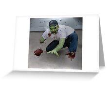 Zombie Pipe Smokers - 'Dan' Greeting Card
