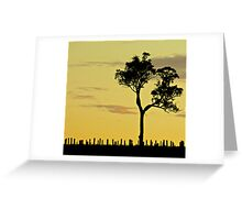 Sunset Vineyard 1 Greeting Card
