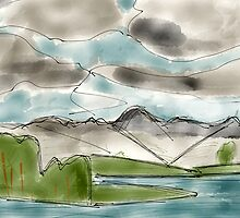 Langdale Pikes, Lake District by a h