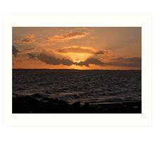 Galloway Sunset Art Print