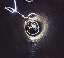 Light Painting In Drain  by CalsEdits